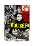 Macbeth, Italian Poster Art, Jeanette Nolan (Top, Center), Orson Welles (Center), 1948 Giclee Print