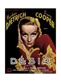 Desire, Marlene Dietrich, 1936 Giclee Print