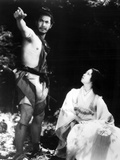 Rashomon, Toshiro Mifune, Machiko Kyo, 1950 Photo