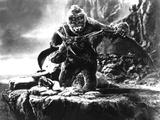 King Kong, Fay Wray, 1933, Kong Fighting Pterodactyl Foto