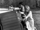 Bonnie and Clyde, Warren Beatty, Faye Dunaway, 1967 Photo