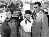 Roman Holiday, Eddie Albert, Audrey Hepburn, Gregory Peck, 1953 Foto