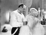 Dinner at Eight, from Left, Wallace Beery, Jean Harlow, 1933 Photo