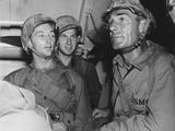 Gung Ho!, Front from Left: Robert Mitchum, Randolph Scott, 1943 Photo