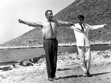 Zorba the Greek, Anthony Quinn, Alan Bates, 1964 Photo