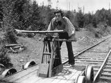 The General, Buster Keaton, 1927, Handcar Photo