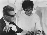 8 1/2, from Left: Marcello Mastroianni, Anouk Aimee, 1963 Photographie