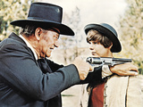 True Grit, from Left: John Wayne, Kim Darby, 1969 Photo