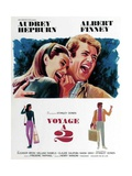 Two for the Road, from Left, Audrey Hepburn, Albert Finney, 1967 Stampa giclée