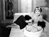 Clara Bow, Celebrating Her 25th Birthday on the Set of Her Wedding Night, July 1930 Photo