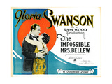 The Impossible Mrs. Bellew, from Left: Conrad Nagel, Gloria Swanson, 1922 Giclee Print