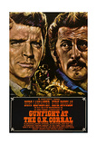 Gunfight at the O.K. Corral, German Poster Art, 1957 Giclee Print