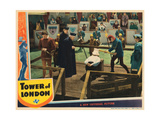 Tower of London, John Sutton (Left), Boris Karloff (Red Hood), John Rodion (Kneeling), 1939 Giclee Print