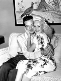 Betty Grable, Right, and Harry James, Ca. 1943 Photo