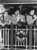 Go West, from Left: Harpo Marx, Groucho Marx, Chico Marx, 1940 Photo