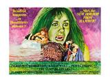 The Vampire Lovers, Top: Ingrid Pitt on UK Poster Art, 1970 Giclee Print