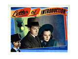 Letter of Introduction, from Left, Charlie Mccarthy, George Murphy, Andrea Leeds, 1938 Giclee Print
