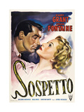 Suspicion, (AKA Sospetto), from Left: Cary Grant, Joan Fontaine on 1950s Italian Poster Art, 1941 Giclee Print