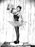 Paulette Goddard, Wishing Her Fans a Happy New Year, Ca. 1940 Photo