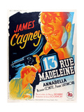 13 Rue Madeleine, James Cagney (Top), Annabella, 1947 Giclee Print