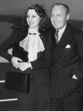 From Left: Mary Livingstone, Jack Benny, 1937 Photo