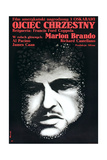 The Godfather (AKA Ojciec Chrzestny), Marlon Brando on Polish Poster Art, 1972 Giclee Print