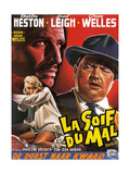 Touch of Evil, (AKA La Soif Du Mal), from Left: Janet Leigh, Charlton Heston, Orson Welles, 1958 Giclee Print