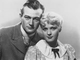 Conflict, from Left: John Wayne, Jean Rogers, 1936 Photo