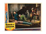 Tower of London, Boris Karloff (Bald Head), Basil Rathbone (Green), 1939 Giclee Print