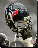 Houston Texans Helmet Spotlight Stretched Canvas Print