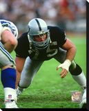 Howie Long 1985 Action Stretched Canvas Print