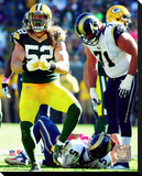 Green Bay Packers - Clay Matthews Stretched Canvas Print