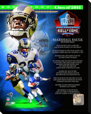 Marshall Faulk 2011 Hall of Fame Composite Stretched Canvas Print
