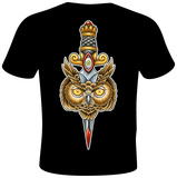 Mike Biggs- Owl Dagger T-Shirt by Mike Biggs