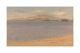 Mount Katahdin from Lake Millinocket Premium Giclee Print by Frederic Edwin Church