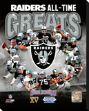 Oakland Raiders All Time Greats Composite Stretched Canvas Print