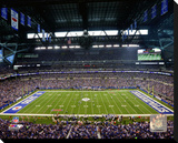 Indianapolis Colts Lucas Oil Stadium Stretched Canvas Print
