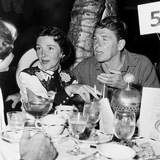 Ronald Reagan, Right, and Nancy Davis, Out on the Town, Ca. 1951 Photo