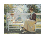Eleanor and Benny, 1916 Premium Giclee Print by Frank Weston Benson
