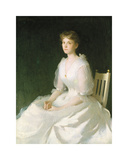 Portrait in White, 1889 Premium Giclee Print by Frank Weston Benson