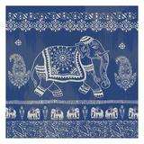 Boho Elephant Blue Art