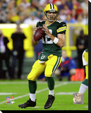 Aaron Rodgers 2015 Action Stretched Canvas Print