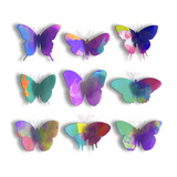 Watercolor Butterfly Pop Poster