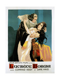 Lucrezia Borgia, (AKA Lucrece Borgia), French Poster, from Left: Conrad Veidt, Liane Haid, 1922 Giclee Print