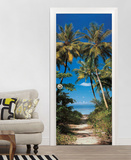 Beach Path Non-Woven Vlies Door Wallpaper Mural Papier peint