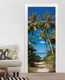 Beach Path Non-Woven Vlies Door Wallpaper Mural - Duvar Resimleri