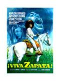 Viva Zapata!, Jean Peters, Marlon Brando, Anthony Quinn, (Spanish Poster Art), 1952 Giclee Print