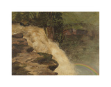 A Waterfall in Colombia Premium Giclee Print by Frederic Edwin Church