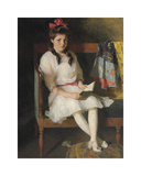 Portrait of Gertrude Russell, 1915 Premium Giclee Print by Frank Weston Benson