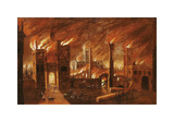 The Great Fire of London, seen from Newgate, 1666 Premium Giclee Print by Jan Griffier